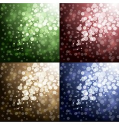 Lights on color backgrounds vector