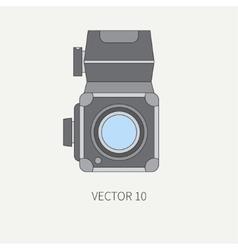 Line flat icon with retro analog film vector