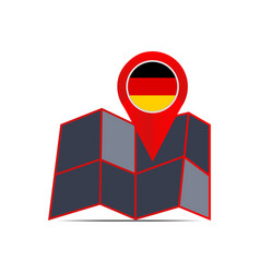 Map pin icon germany with a country flag vector