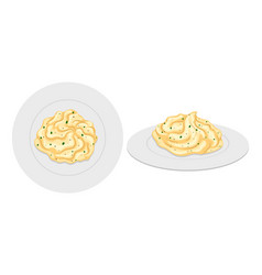 Mash potato on plates vector