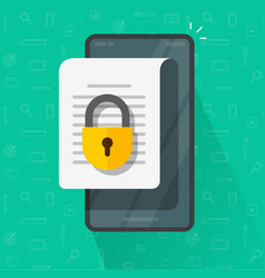 mobile secure confidential document online access vector image