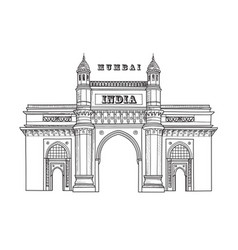 Mumbai city icon architectural symbol mumbai vector