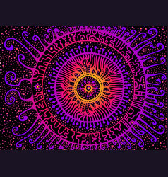 Mystical bright fantasy doodles ornament vector