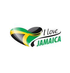 National flag jamaica in shape vector