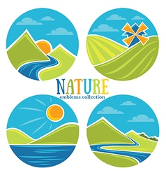 nature emblems vector image