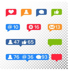notifications icons template like symbol vector image