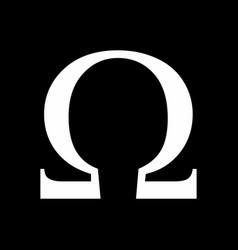 omega greek sign vector image