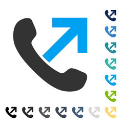 Outgoing call icon vector