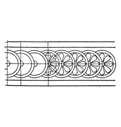 Persepolis rosette band is a persian pattern a vector