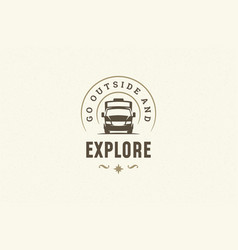 quote typography with hand drawn camping caravan vector image