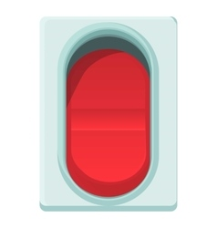 Red switch icon cartoon style vector