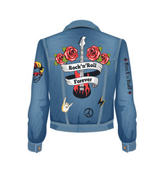 Rock-n-roll forever denim vector