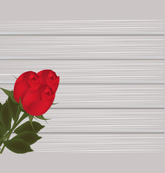 roses on wooden texture vector image