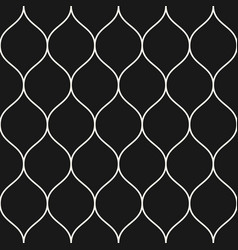 seamless pattern thin wavy lines black vertical vector image