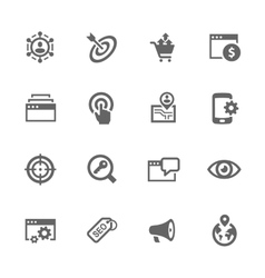 Simple SEO Icons vector