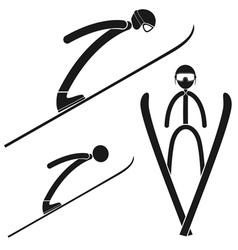 Ski jumping vector image