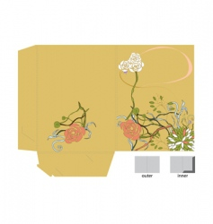 template for decorative folder vector image