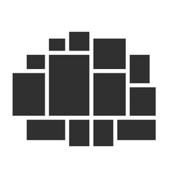 Templates collage frames vector