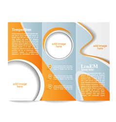 Tri-fold brochure template vector image