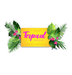 Tropical hot poster vector