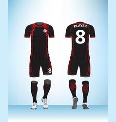 uniform football black vector image