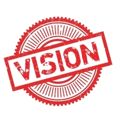 Vision stamp rubber grunge vector