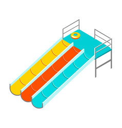 water colorful slide isolated vector image