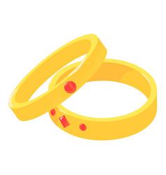 wedding ring icon isometric style vector image
