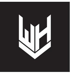wh logo monogram with emblem shield style design vector image
