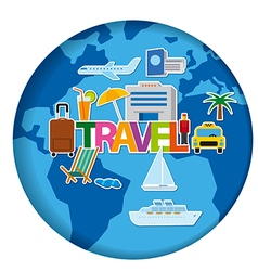 worldl travel concept stickers vector image