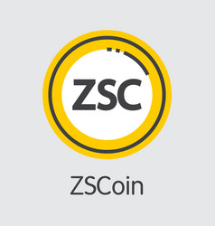 Zscoin cryptographic currency - coin image vector