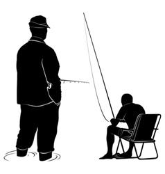 Man fishing vector image vector image