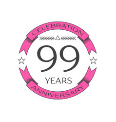 ninety nine years anniversary celebration logo vector image vector image