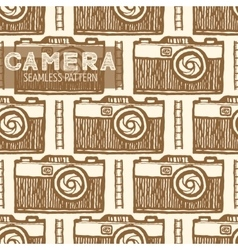 Old photo camera seamless pattern vector image vector image