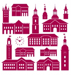 old town elements vector image vector image