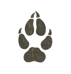 a trace from a wolf silhouette of foot vector image
