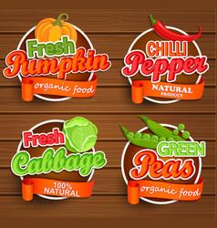 farm fresh organic food label vector image