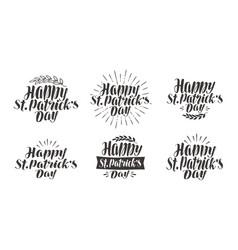 happy st patricks day greeting card holiday vector image