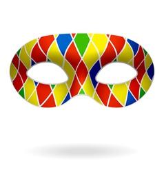 harlequin mask vector image