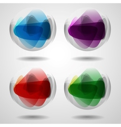 Set Of Translucent Crystal Ball vector image