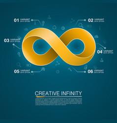 symbol of infinity vector image vector image