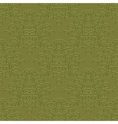 Vintage linear damask pattern with thin lines vector image vector image