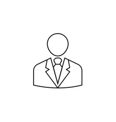 businessman line icon user business vector image vector image