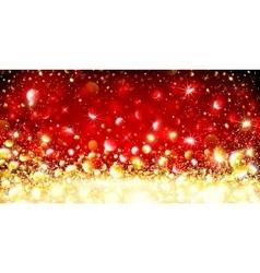 Christmas Golden Background vector image