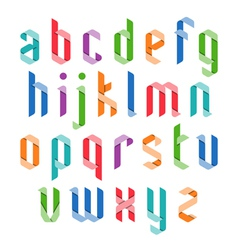 Colorful ribbon alphabet vector image