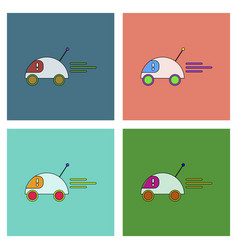 Flat icon design collection remote control car vector