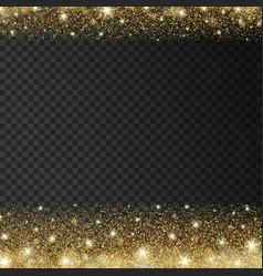 Golden sparkles drop background vector