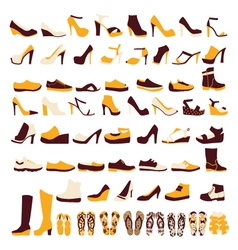 icon set of mens and of womens shoes vector image