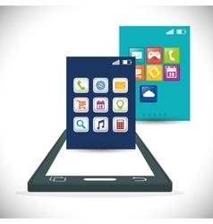 Smartphone mobile apps design vector