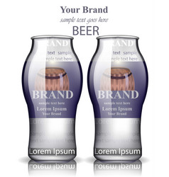 beer bottles realistic product packaging vector image vector image